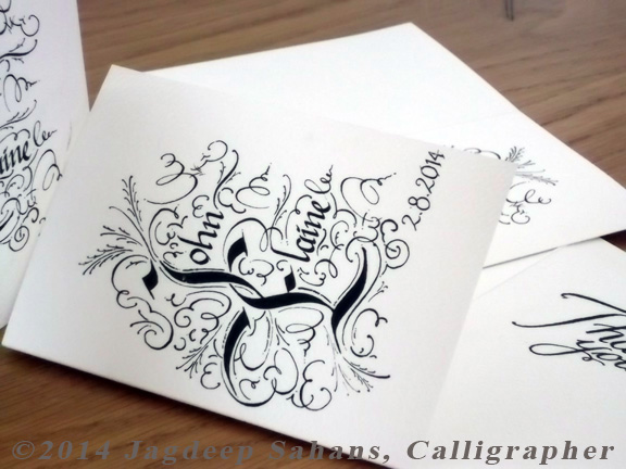 Custom designed Thank you Card