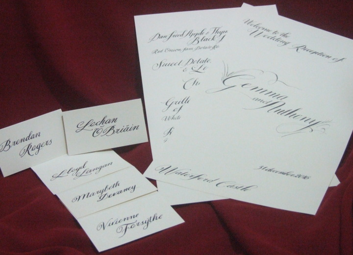 wedding calligraphy-menu-place cards-bespoke-calligrapher, Jagdeep Sahans