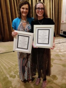 Louise Tyrell and Dee Oleary with Marie Collins Award
