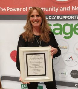 Ailish McCormack with Marie Collins Award