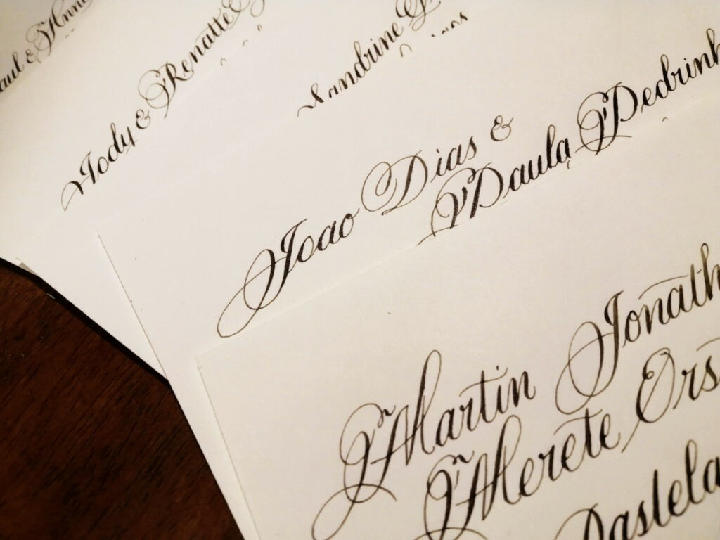 Envelopes with Guest Names-Wedding Calligraphy Ireland